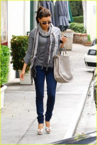 Eva Longoria looking a little blue  as she leaves Cafe Med in Los Angeles , CA.