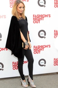 "Nicole Ritchie Happy To Answer Questions While At ""Fashion's Night Out"" In NYC"